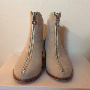 Anthropolgie Grey suede boots